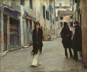 "John Singer Sargent's ""Street in Venice"""