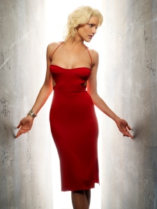 Tricia Helfer as the memorable Number 6.