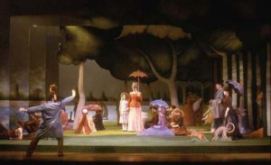 A still from the original Broadway production of Sunday in the Park with George