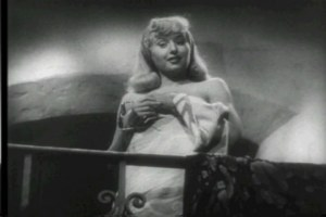 "Barbara Stanwyck in the classic film noir ""Double Indemnity"""