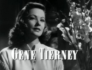 The title card of the film Laura