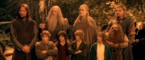 The Fellowship of the Ring as portrayed in Peter Jackson's film, Lord of the Rings: The Fellowship of the Ring