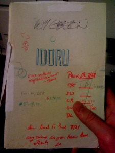 "Signed copy of William Gibson's novel ""Idoru"". (Photo by Jason DeFillippo via Flickr)"