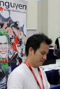 Comic book artist and writer Dustin Nguyen at a con. (Photo taken by PatLoika via Flickr)