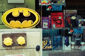 The entrance to your average comic book store, where you can find anything but average art. (Photo via Jeffrey on Flickr)