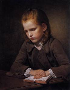 Portrait by Jean-Baptiste Greuze of a young student. The works we read as children have the power to fundamentally shape our destinies.