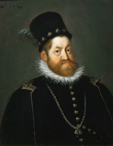 A portrait of Rudolf II painted by Joseph Heintz the Elder.