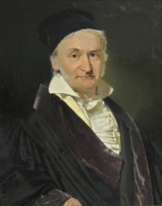 Carl Friedrich Gauss was a renowed mathmatician and theorist. (Portrait paingted in 1840 by Jensen)