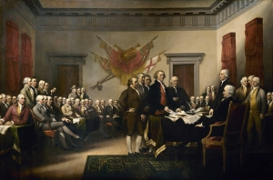 John Trumbull's famous portrait of the signing of the Declaration of Independence hardly seems fodder for a new musical. But beyond this moment in history were some of America's most vibrant personalities.