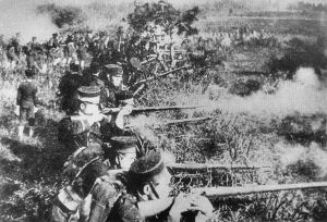 War effects us all, though it may do so in different ways (Photo of the Sino-Japenese War in 1894)