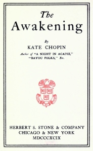 The original title page from Kate Chopin's The Awakening