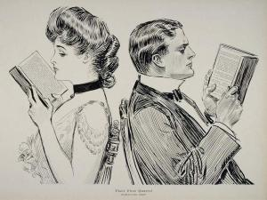 Can access to language empower a woman to take ownership over her own individuality? (Print by Charles Dana Gibson)