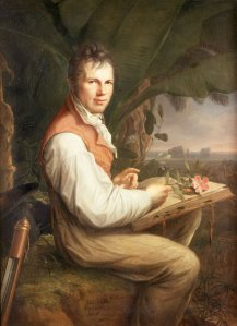 The second historical figure featured in Kehlmann's novel. the explorer Alexander von Humboldt (Portrait painted in 1806 by Friedrich Georg Weitsch)