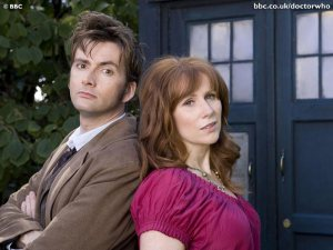 The Doctor and Donna, one of his many companions