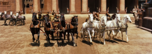 One of the famous scenes from the film, the chariot race was the culmination of Judah and Messala's vendetta