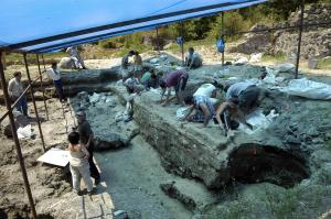 Picture of the Dmanisi Excavation Site, taken by the Georgian National Museum