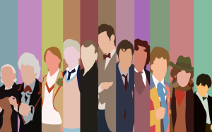 The Doctors over the years, a minimalist representation by Araigen via DeviantArt