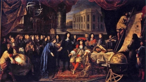 Colbert Presenting the Members of the Royal Academy of Sciences to Louis XIV by Henry Testelin