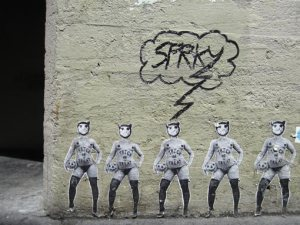 Graffiti can found in and around every major city (Photo by atto11 via Flickr)