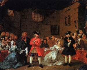 William Hogarth's depiction of a scene from The Beggar's Opera