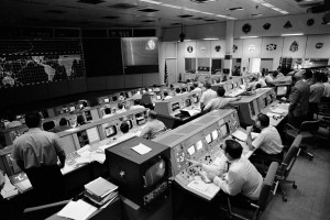 Mission Control at the time of the Apollo Project